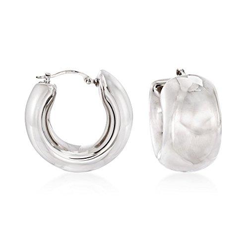 Ross-Simons Sterling Silver Wide Hoop Earrings For Women 925 10.8 Grams 1/2 Sterling Silver Jewelry