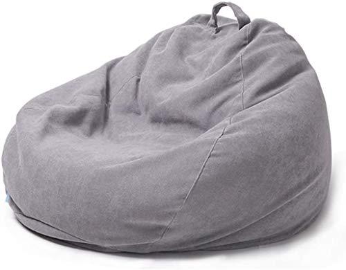 DBXOKK Sitzsackhlle ohne Fllung, Flanell Stoff Sitzsack Bezug Hlle für Kinder und Erwachsene, S/M/L/XL/XXL(Light Gray90*110cm)