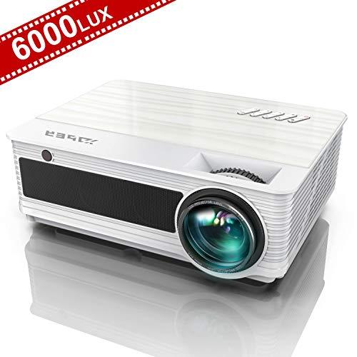 Vidéoprojecteur, YABER Projecteur 6000 Lumens Full HD 1920 x 1080P Natif Rétroprojecteur, avec...
