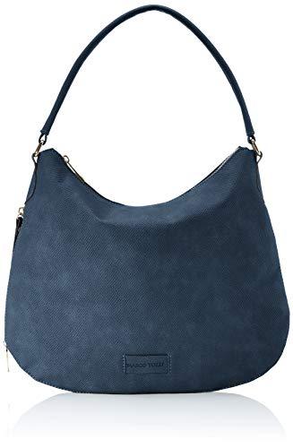 Marco Tozzi 2-2-61026-24 - Bolso de hombro de Sintético Mujer, color Azul, talla 9x31x35,5 cm (B x H x T)