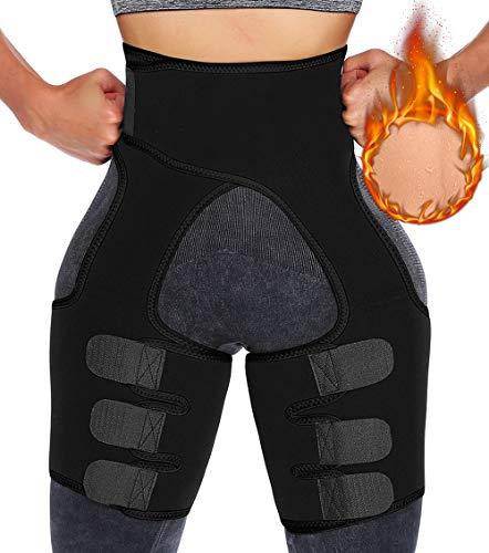 KIWI RATA Faja Reductora de Muslo Compresión Mujer Cinturón Adelgazante de Sudoración Deporte Sauna Neopreno Entrenador de Cintura Abdominal para Pérdida de Peso, Aliviar el Dolor