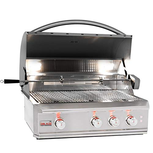 Blaze Professional LUX 34-Inch 3-Burner Built-in Natural Gas Grill with Rear Infrared Burner - BLZ-3PRO-NG Gas Grills Natural