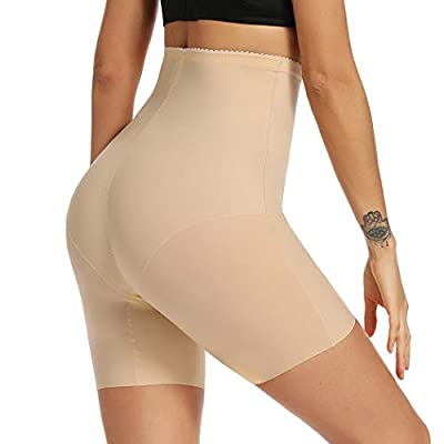 High Waist Body Shaper Shorts for Women Tummy Control Shapewear Shorts Thigh Slimmer Panties (Beige, XL)