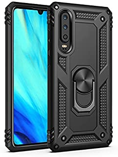 COVO Huawei P30 Lite Case Hybrid Dual Layer Shock-Absorption Anti-Scratch Huawei P30 Lite phone cases Slim Rotation Ring M...
