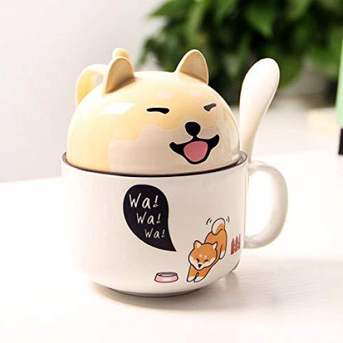 YEJHAN Kaffee Keramik Tasse Porzellan Becher Shiba Inu Geschenk Weihnachten süß süß große Kapazität