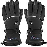 OUTCOOL Beheizbare Handschuhe für Herren und Damen Beheizte Motorradhandschuhe mit Akku Dauerbetrieb für 2-8 Stunden (L)