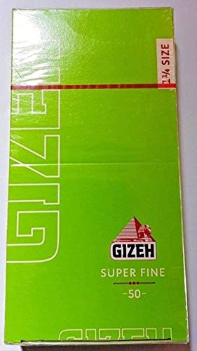 Gizeh 1.25 Lighteweight Cut Corners Cigarette Rolling Papers (Made in Austria) Box Of 25