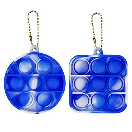 Juguete Antiestrés Sensorial De Silicona Para Voltear Juguete Llavero Juguetes De Descompresión De Juguete Que Son Fáciles De Llevar Juguetes De Mano Para Aliviar El Estrés,Blue and white