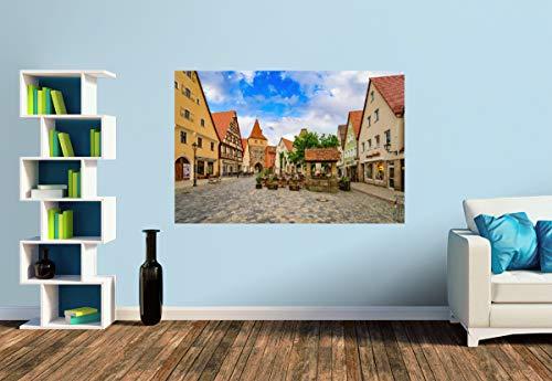 Premium Foto-Tapete Alter Brunnen auf dem Marktplatz (versch. Größen) (Size S | 186 x 124 cm) Design-Tapete, Wand-Tapete, Wand-Dekoration, Photo-Tapete, Markenqualität von ERFURT