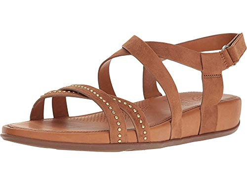 FitFlop Women's Lumy Criss Cross Leather Sandals Shoes Tan Size 11