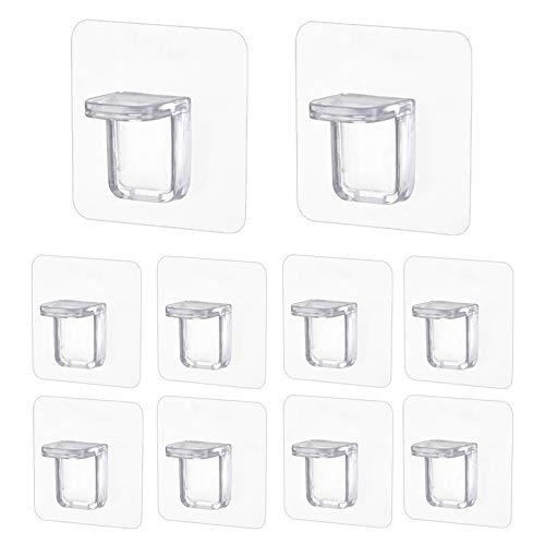 10 ganchos autoadhesivos de pared para colgar salas de baño de cocina resistentes, para armarios de 15 kg a 20 kg