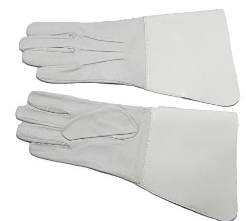 Handschuhe Leder Drum Major's Glover weiß R479 Gr. M, weiß