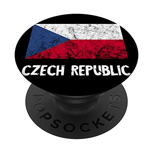Czech Republic Flag Ceska Republika Roots Czechia Pride PopSockets PopGrip Intercambiabile