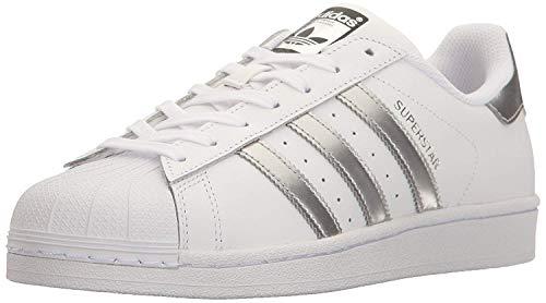adidas Originals Superstar, Zapatillas Mujer, Blanco Plata Metálico Core Negro, 43 1/3 EU