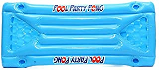 Nihlssen Inflatable Beer Pong Float Table Swimming Pool Raft Lounge PVC Floating Raft with 24 Cup Holders for Pool Party Game