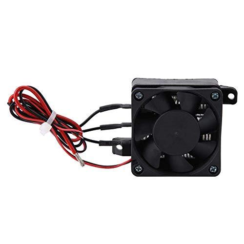 Calentador de aire con ventilador para coches de 220 V, calentador eléctrico PTC, elemento calefactor de ahorro de energía con temperatura constante automática para espacios pequeños(12V 300W)