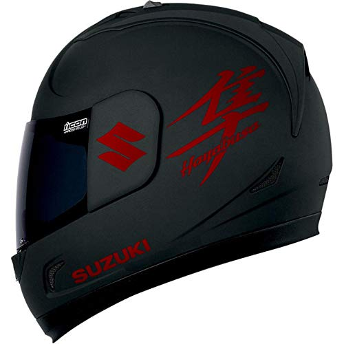 SUPERSTICKI Suzuki + Hayabusa Helmaufkleber Motorrad Aufkleber Bike Auto Racing Tuning aus Hochleistungsfolie Aufkleber Autoaufkleber Tuningaufkleber Hochleistungsfolie für alle glatten Flä