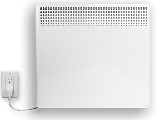 Stelpro ASHC1501PW Electric Convection Heater for wall mounting at least 4 inches from the floor in a Semi-Permanent Installation. 1500 Watts with 120 Volt Grounded 3-Prong Plug & Cordset.