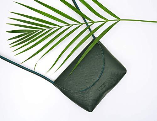 LAMARI BERLIN // CELESTE BAG Moss, grüne Ledertasche, kleine Ledertasche Dunkelgrün, Crossbody Tasche, Mini Tasche // Handmade in Berlin