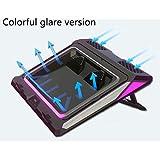 Colorido deslumbramiento Notebook radiador de doble turbo ventilador fuerte viento anillo de sellado Anillo de goma de alta densidad a prueba de polvo sellado de escape Enfriador de portátiles Enfriad