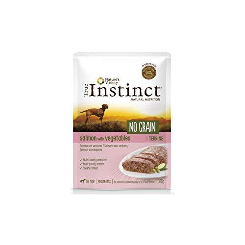 True Instinct No Grain Terrine per Cane Adult Medium/Maxi da 300g, Salmone e Riso