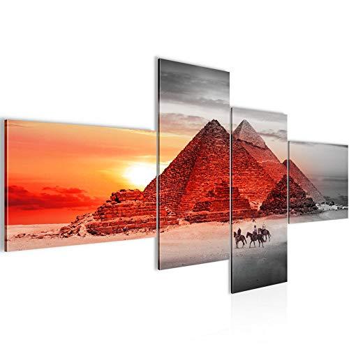 Pintura Mural XXL Egipto Pirámides 200 x 100 cm Impresión de arte Cuadro in Lienzo no Tejido Sala Dormitorio 601841a