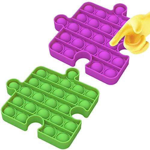Pops it Bubble Sensory Fidget Push Toy - Tomicy 2 Pcs Push Pop Bubble Sensory Fidget Toy, Giocattoli per Alleviare lansia Antistress per Autismo Giocattoli Educativi Estrusione per Bambini