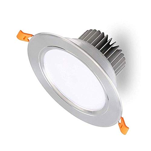 OUUED LED Empotrada En El Techo Downlight De La Luz De Plata Del Reflector 45W 5W = No-regulable 3000k Calienta La Lámpara Ultra-delgado Spotlight For Restaurante Sala De Exposiciones Villa De Alumini