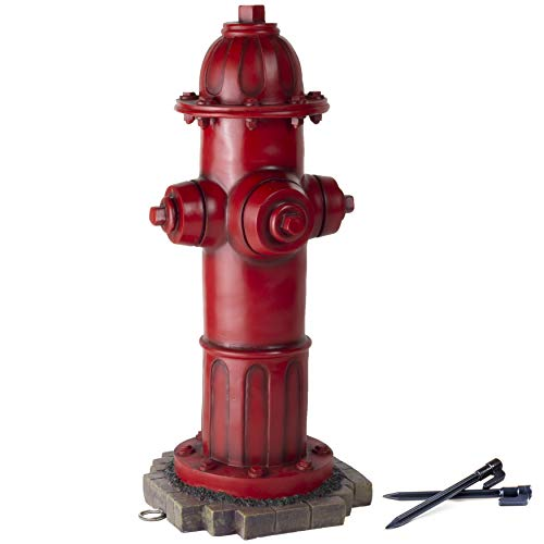 LULIND - Dog Fire Hydrant Garden Statue with 2 Stakes, 16 Inches