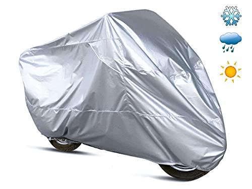 Telo Coprimoto Impermeabile per Esterno, Resistente a Acqua Polvere Pioggia Vento Escrementi di Uccelli, per Moto Motorino Motocicletta Scooter (Grande 230X130cm)