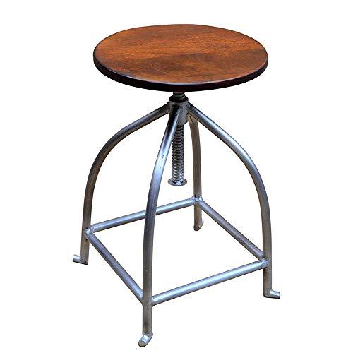 MoMi Barhocker Metallrahmen Holzstuhl Küche Bistro Stuhl Höhenverstellbar