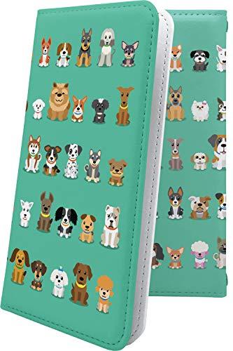 スマートフォンケース・ZenFone5Q ZC600KL・互換 ケース 手帳型 小型犬 動物 動物柄 アニマル どうぶつ ゼンフォン5q ゼンフォン5 手帳型スマートフォンケース・キャラクター キャラ キャラスマートフォンケース・zenfone 5q 5 q 犬 いぬ 犬柄 [yT230107Dt9]