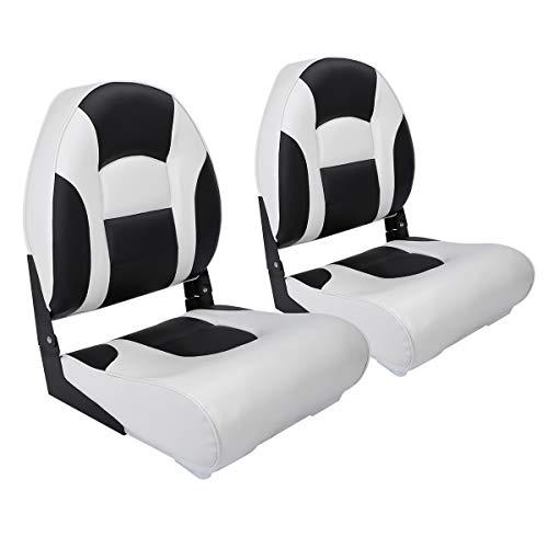 NORTHCAPTAIN S1 Pro Premium High Back Folding Boat Seat2 SeatsWhite/Black
