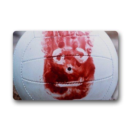 Afagahahs Movies Blood Volleyball Wilson Castaway Doormat Indoor Soft Rug Size: 18x30 Inch