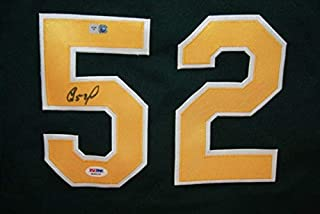 Yoenis Cespedes Autographed Signed Authentic Majestic Oakland AS Green Jersey PSA ITP