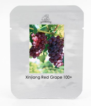 1 Paquet professionnel, 100 graines / paquet, Xinjiang Red Grape Seeds Heirloom Garden plantules Plante # NF467