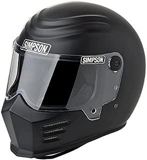 Simpson 28215L8 Outlaw Bandit Helmet M2015 Lrg M. Blk