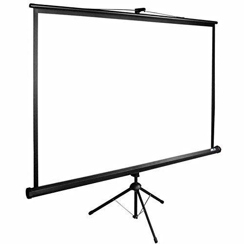Mobile Stativleinwand | Leinwand für Beamer in Heimkino und Büro | leichter Transport | höhenverstellbar | verschiedene Formate | viele Größen | Format 16:9 | 220x124 cm