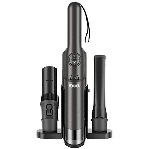 VOSFEEL J10 Aspiradora de Mano sin Cable Potente 15000pA 160W Aspiradora Coche para el Hogar y el Automóvil (37 cm)