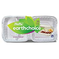 Hefty Earthchoice Biodegradable, Compostable Hinged, 9