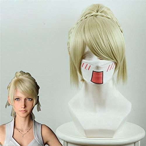 Juego Final Fantasy Xv Lunafreya princesa Cosplay pelucas mujeres nias rubio claro pelo sinttico disfraces de Halloween peluca 437B