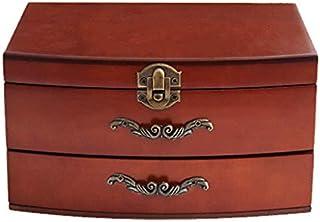 E-isata Solid Wooden Jewellery Box Storage Box Organizer for Earring Bracelet Women Girlfriend Birthday Aniversary Gift