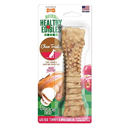 Nylabone Healthy Edibles Natural Long Lasting Dog Chew Treats Turkey & Apple Souper