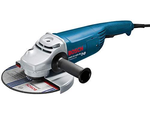 BOSCH 0601883M03 - Amoladora GWS 24-180 JH Professional. 2.400 W. 180 mm. Empuñadura recta. Arranque suave. Interruptor tri-control. 5,2 Kg con Caja de cartón.