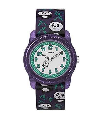 Timex Unisex Kinder Analog Klassisch Quarz Uhr mit Gewebe Armband TW7C77000