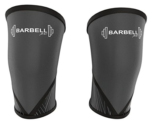 Barbell Pro Knee Sleeves Weightlifting, for Squats, Powerlifting, Neoprene Knee Support & Compression, Includes Free Voucher, for Women & Men, Compare to Rehband Knee Sleeve (Small)
