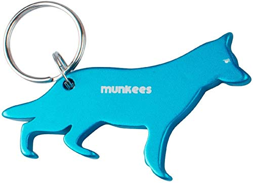 Munkees Porte-clés Décapsuleur Allemand Schäferhund, bleu, 85 mm