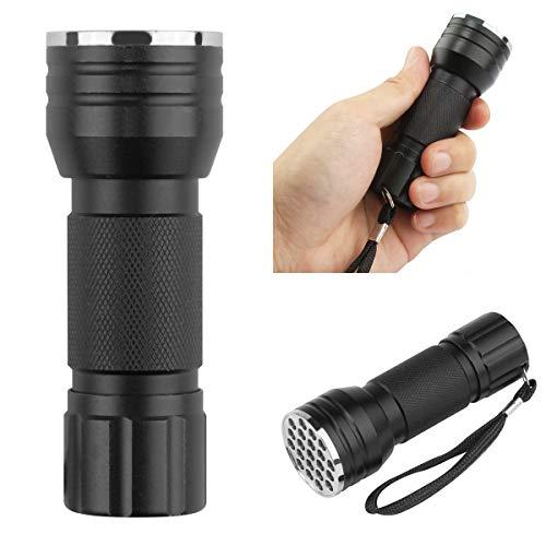 LED-Taschenlampe Tragbare UV-Ultraviolett 21 Taschenlampe Schwarzlicht Aluminium Taschenlampe für Den Außenbereich