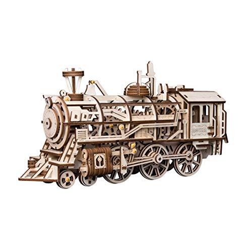 La Vida en Led Maqueta Tren de Cuerda Locomotora Puzzle 3D DIY