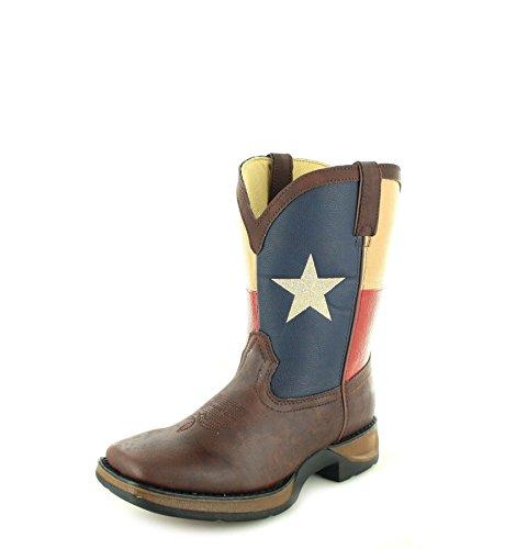 Durango Boots Texas Flag BT246 Brown/Kinder Westernreitstiefel Braun/Cowboystiefel/Kids Boot, Groesse:25 (8.5 US)